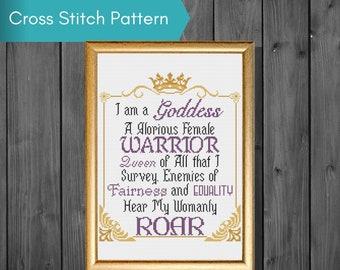 Pawnee Goddess Pledge Cross Stitch Pattern