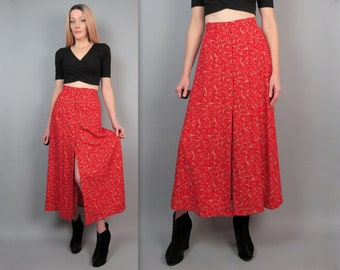 vintage 90s black and floral skirt by first option vintage 90s floral grunge boho bohemian skirt