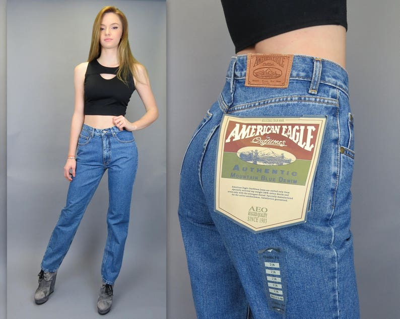 de04db96c6e Vintage 90s NOS High Waisted Jeans American Eagle Outfitters