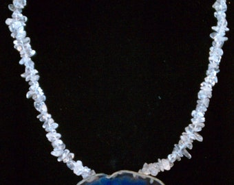 Agate, Quartz Necklace