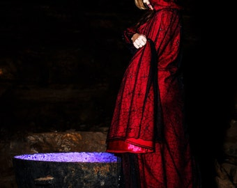 """The """"Red Widow"""" cape"""