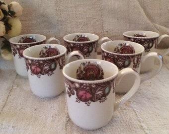 Johnson Brothers, His Majesty Mugs, Set of 6