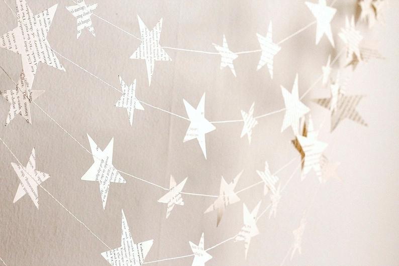 paper stars garland book paper garland classroom decor image 0