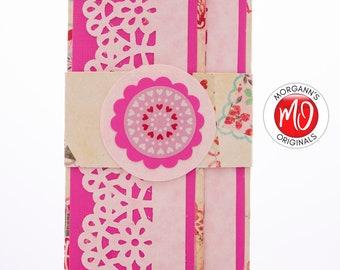 Pink Money Holder, Beige Wallet, Colorful Money Holder, February 14, Love Present, Gift Card Holder, Valentine's Day Gift