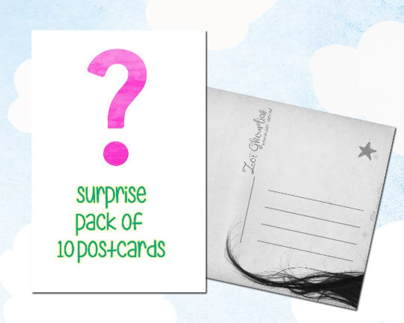 Surprise pack Zoi-Zoi postcards  10 postcards image 0