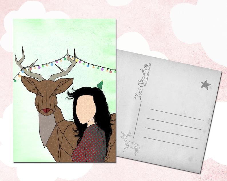 Christmas Card  Deer image 0