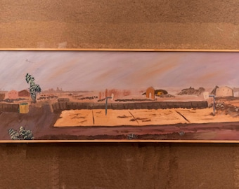 OP 2 Iraq Landscape Oil Painting on Canvas