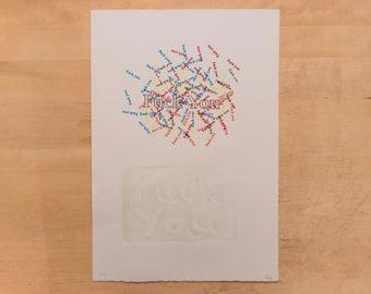 Multicolored Screen print on Paper
