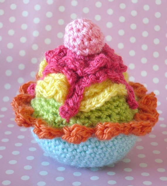 Crochet Cupcake Pattern In English And American Terms Etsy