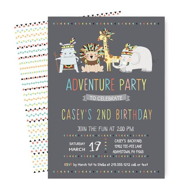 Aztec Birthday Party Invitations