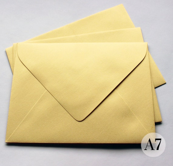 shimmer gold envelope set of 25 a7 invitation mailer pointed etsy