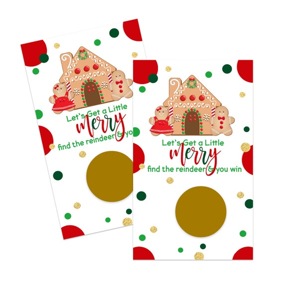 Gingerbread Scratch Off Game Cards 30 Pack Christmas Party Supplies Holiday Raffles Business Drawing Groups Kids Adult Red Green By Paper Clever Party Catch My Party