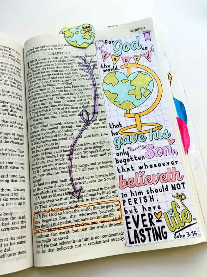 Bible Journaling Bible Verse Art Bible Verse Print great for image 0