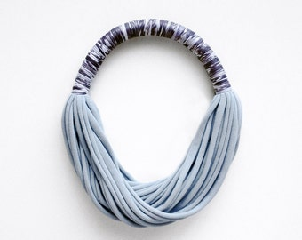 The funky print necklace - handmade in jersey fabric / abstract print