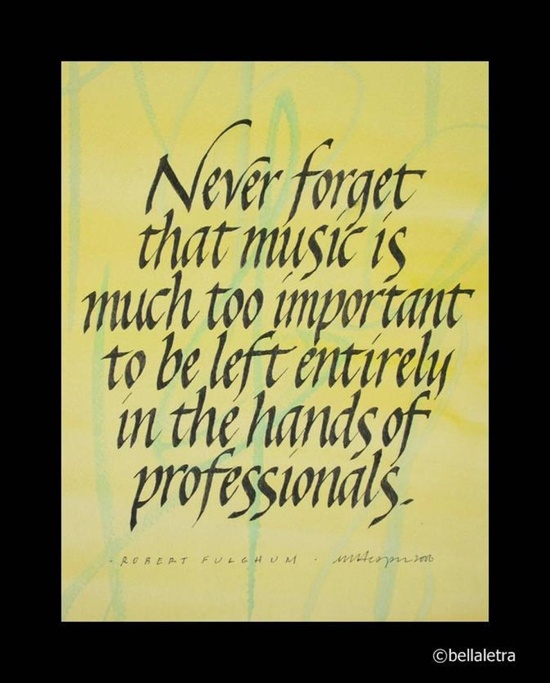 music quotation calligraphy print image 0
