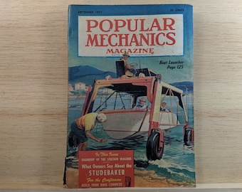 Popular Mechanics September 1953 - The New Studebaker, Build a Boat Launcher - Great Condition - Fascinating Articles and Many Vintage Ads