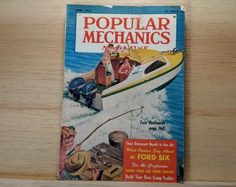 Popular Mechanics August 1952 -UN World Headquarters, 1952 De Soto, Camper Build - Great Condition Fascinating Articles and Many Vintage Ads