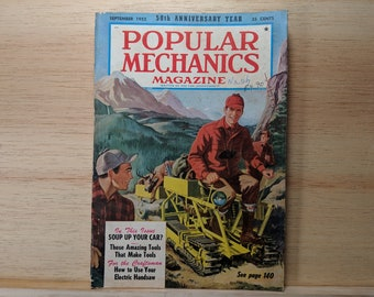 Popular Mechanics September 1952 - Stereoscopic Cameras, Nash Automobile - Great Condition Fascinating Articles and Many Vintage Ads