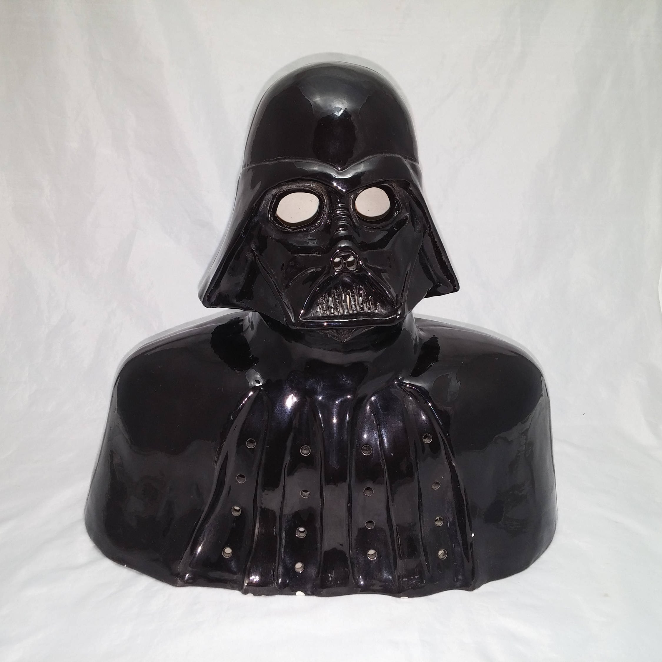 1970s Darth Vader Lamp - Kiln Fired Glazed Pottery Bust, Previously ...