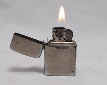 1970s CHAMP Austria Vintage Cigarette Lighter - rehabbed with new flint, new wick - good daily user, retractable wind screen for pipe smoker