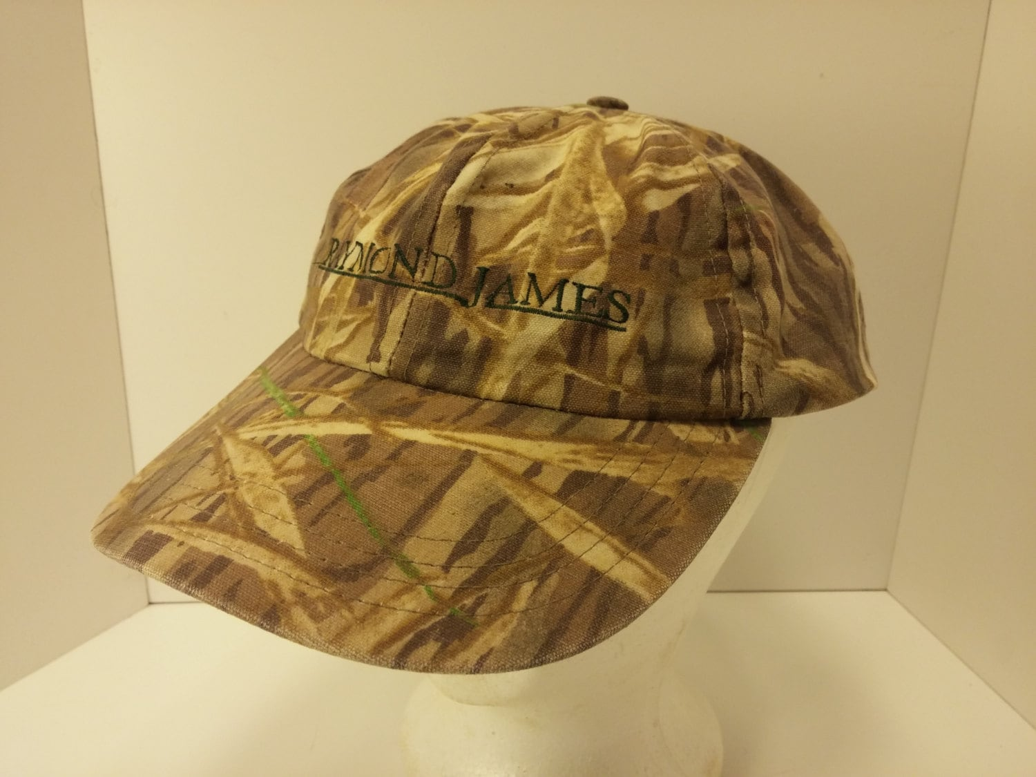 Vintage 1990s Mcalister Camouflage Hunters Ball Cap Waxed