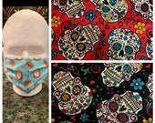 Sugar Skull Face Mask Pick your print