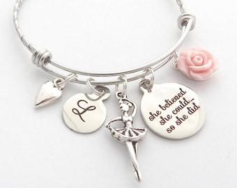 Ballet Bracelet I love Dance Ballet Slippers Dance Jewelry Dance Gifts Gift for Dancer Dance Charm Bracelet