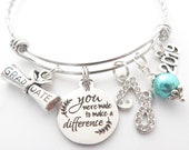 Class of 2020 Graduation Gift-Senior 2020-Graduation bracelet-Gifts for Graduate-You were made to make a difference-inspirational gift