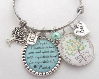 STEP DAUGHTER Wedding Gift, Step Daughter Bracelet, Brides Daughter Gift, Blended Family Wedding, Grooms Daughter Gift, Bride's Daughter