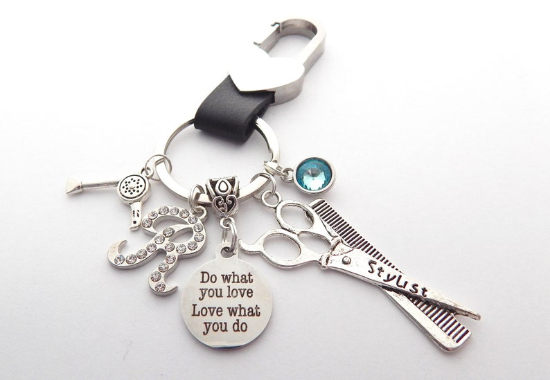 Hairdresser KEYCHAIN Cosmetology Gift Personalized HAIRDRESSER Gift New Business Owner  Gift Cosmetology Hair stylist Co Worker Gift
