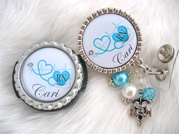 Personalized Stethoscope Id Tag And Rn Medical Badge Reel Etsy