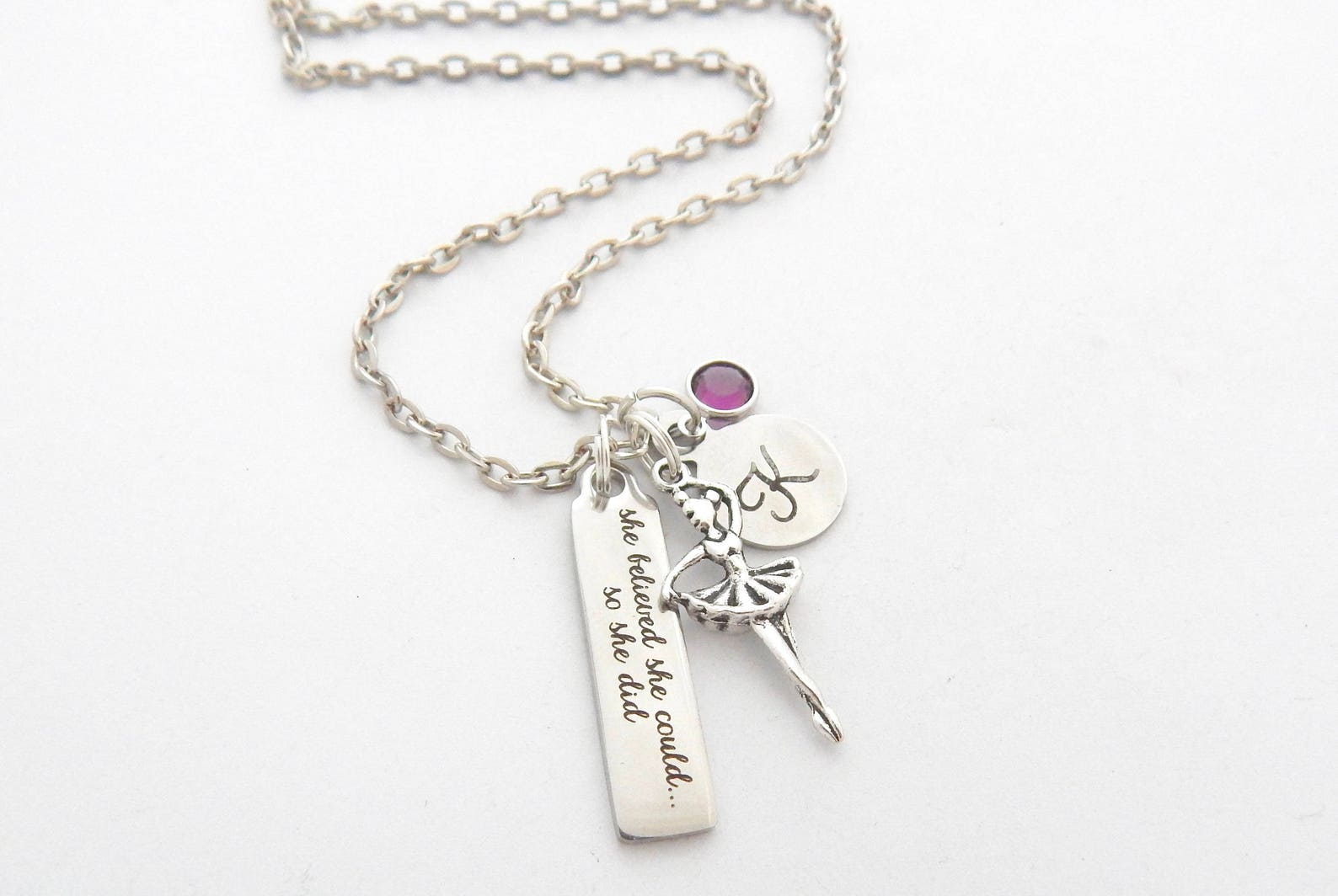 ballet necklace-ballerina dancerjewelry-dancer quote jewelry-dancer ballet gift ballerina jewelry-ballet recital gift-team gift