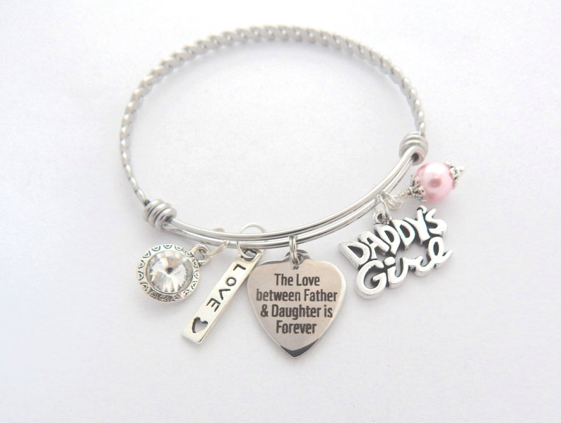 Father Daughter Gift Father Daughter Bracelet Gift from Dad  8b641478dd