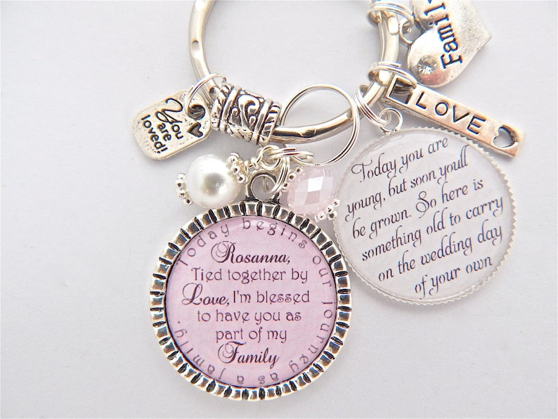 Half Sister Gift Personalized Family Jewelry-Family Gift BLENDED FAMILY Wedding STEPDAUGHTER Gift-Family Jewelry Marriage made you family