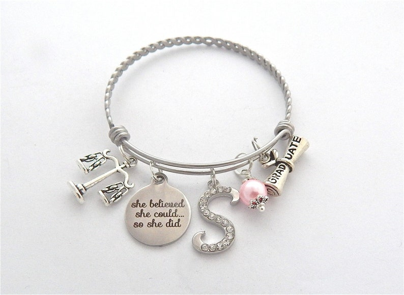 Scales of Justice Bracelet-Paralegal Gift-Lawyer Gift-Law image 0