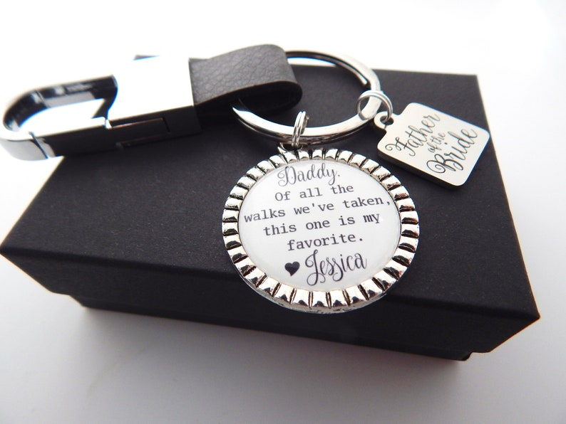 Wedding Day Gift for Dad-Dad Wedding Keychain-Father in Law gift from Groom-Father of the Bride Gift from Groom-Gift from Son in Law-Leather