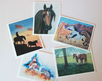 Horse greeting cards etsy equine art horse art box of 10 wenvelopes fine art cards horse art greeting card set blank greeting cards note cards horse paintings m4hsunfo