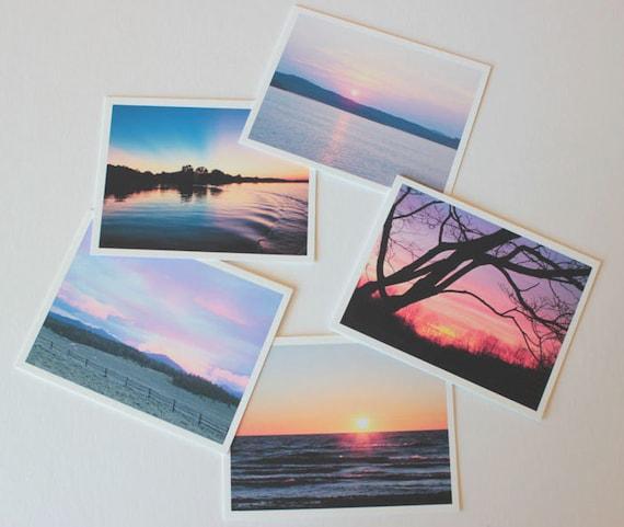 Sunset Photo 1, sunset art, colorful Fine Art Greeting Card Set, box of 10 w/ envelopes, Blank Greeting Card, Photo greeting card, note card