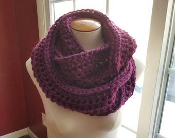 The Cozy Infinity Scarf in Clematis  - Ready to Ship