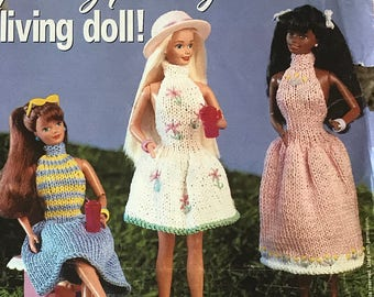 Spring Party Dresses Knitting Pattern for Barbie