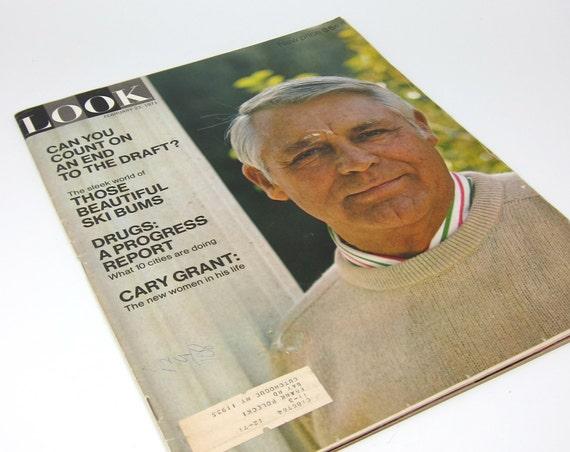 Vintage 70s Look Magazine Cary Grant The Draft Ski Bums Vintage Ads