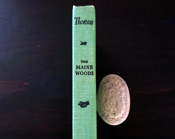 The Maine Woods Henry David Thoreau Vintage Published 1864 Copyright 1950 Green Hardcover Bramhall House Illustrated by Henry Bugbee Kane