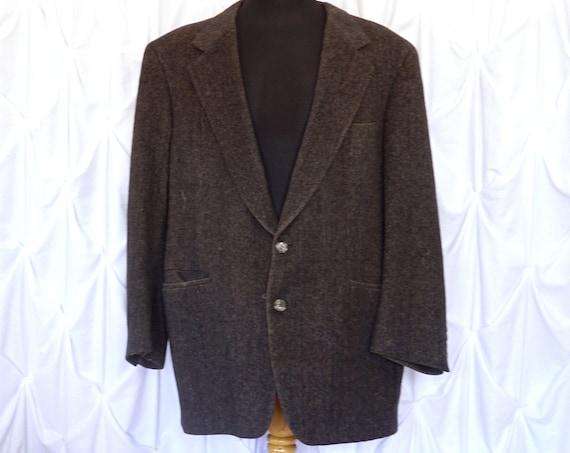 Vintage Brown Blazer Camel Hair Soft Tweed Look Men's Jacket Winter Weight Sports Coat 1960s Edward Archer Riverhead-Southampton