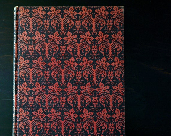 Vintage Persian Poetry Book Rubaiyat Of Omar Khayyam 1947 Illustrated Red Black Clothbound Hardcover FitzGerald Translation Random House