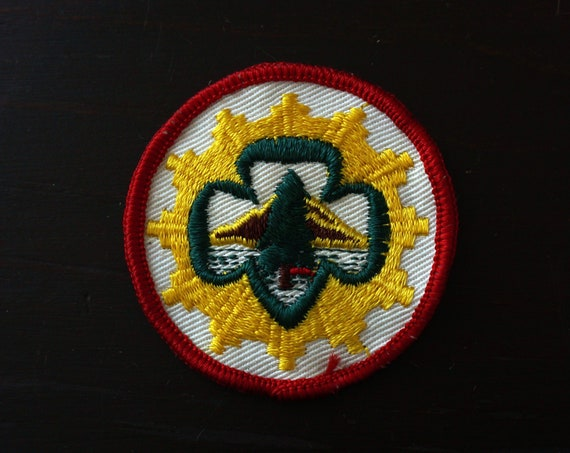 Vintage Girl Scout Patch Senior Girl Scout Trailblazer Mountaineer Interest Patch 1960-1963 Badge GS of America Uniform Scouting Collectible