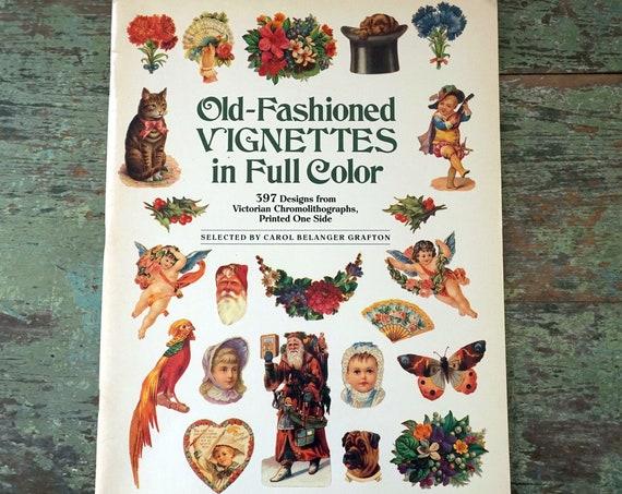 Vintage Victorian Images Copyright Free Old Fashioned Vignettes in Full Color 397 Holiday Floral Chromolithographs Carol Belanger Grafton