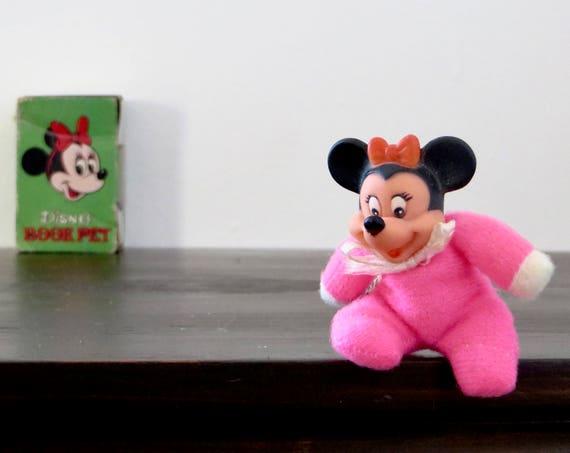 Vintage Minnie Disney Book Pet NO. 2 Collectible Tiny Minnie Mouse Figurine 1970s