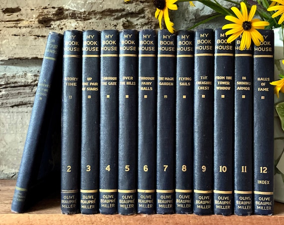 Vintage My Book House Books Editions 1937 Volume 2 - 12 Each Sold Separately & In Your Hands A Parents Guide Book 1943 Olive Beaupre Miller