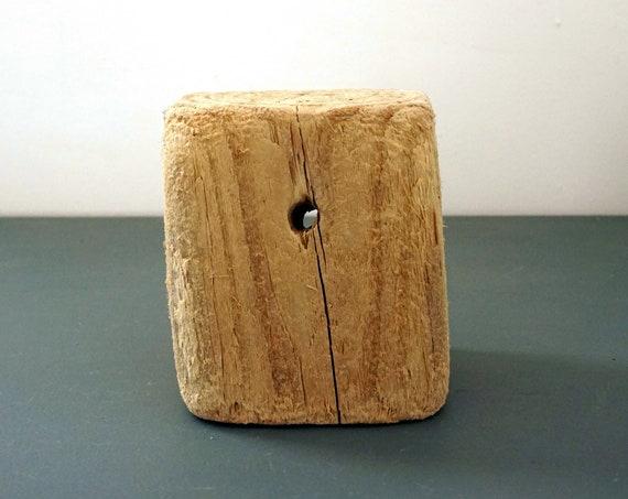 Driftwood Block Wood Sea Worn Sun Bleached Lumber Chunk Wood Grain Beach Find Long Island Sound Salvaged Display Piece Supply Wood Cube