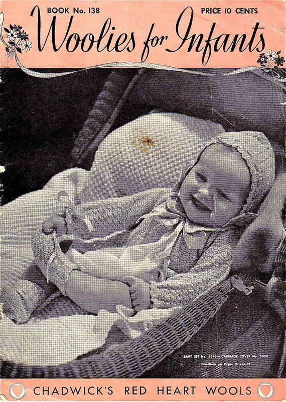 Vintage 1930s Knitting and Crochet Patterns Woolies Infant Clothes Retro Baby Sweaters Knit Wear Clothing How To